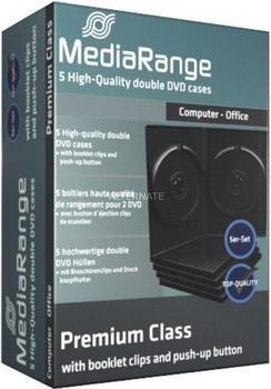 MediaRange BOX30-2 5er-Pack DVD-Hüllen für 2 Disc 14mm