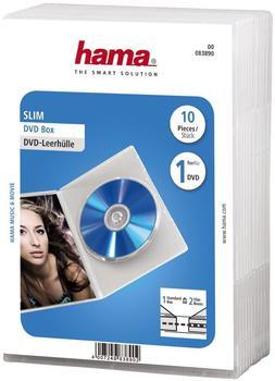 Hama 83890 DVD-Leerhülle Slim (10er-Pack)