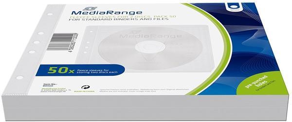 MediaRange BOX60 50er-Pack CD-Vlies-Taschen für 2 Discs