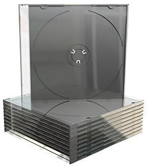 MediaRange BOX21-M CD-Slimcase mit schwarzen Tray (50 Stück)