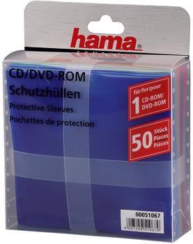 Hama 51067 CD-/DVD-Schutzhüllen (50 Stück, farbig)