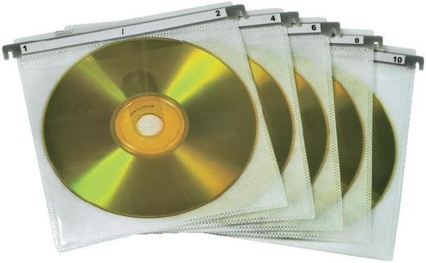 Hama 51176 CD/DVD Doppel-Schutzhüllen (50er-Pack, weiß)
