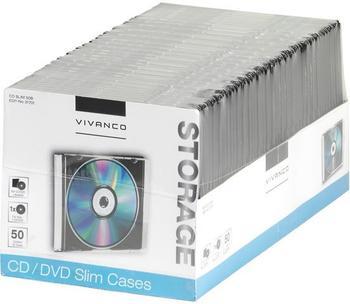 Vivanco 31701 CD/DVD Slim Case (50er Pack)