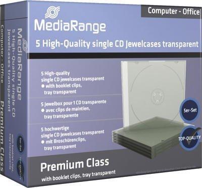 MediaRange BOX31-T 5er-Pack CD-Jewelcases für 1 Disc