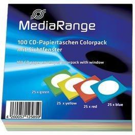 MediaRange BOX67 100er-Pack CD-Papiertaschen Colorpack