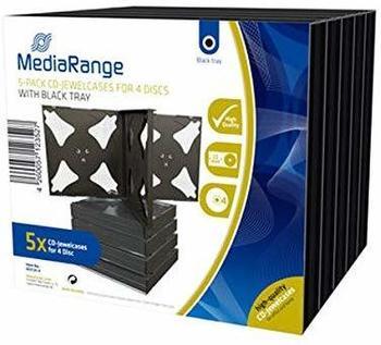 MediaRange BOX34-4 10er-Pack DVD-Hüllen Slim für 4 Discs