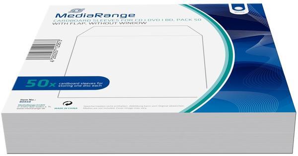 MediaRange BOX68 50er-Pack CD-Papptaschen ohne Sichtfenster