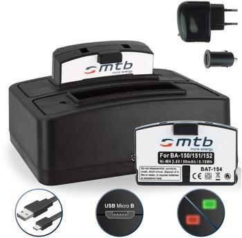 mtb 2x Akku (BA150/BA151) + Dual-Ladegerät für Sennheiser Audioport A200 Set, IS50