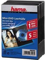 Hama Mini-DVD Leerhülle, 5er-Pack, Schwarz (83993)