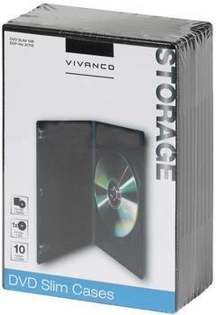 Vivanco 31716 DVD Slim Case schwarz (10er Pack)