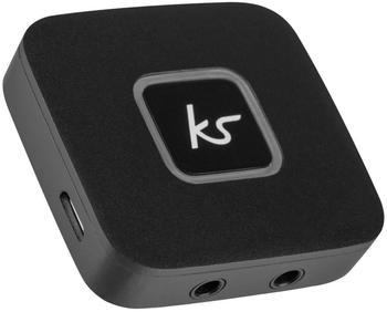 Kitsound Bluetooth Kopfhörer Splitter Adapter Konverter - Schwarz