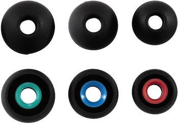 Hama Silikon-Ersatzohrpolster, Größe S - L, 6 Stück, Schwarz