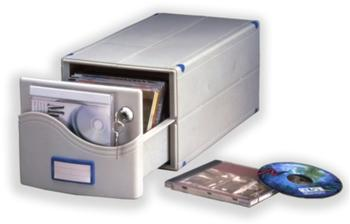 ProfiOffice Archiv-Box MB-30SL (30 CDs/DVDs)