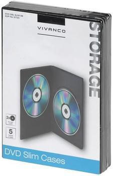 Vivanco 31720 DVD DOUBLE Slim Case (5er Pack)