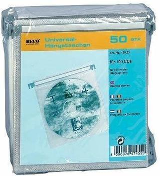 Beco 488.25 Hängetaschen für je 2 CDs (50er Pack)