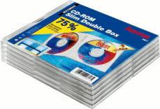 Hama 49817 CD-ROM Leerhüllen Slim Double