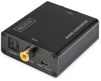 Digitus DS-40138 Audiokonverter, TOSLINK / Koaxial, Digital => Analog