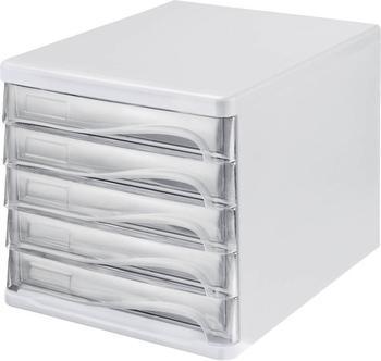 Helit Box 5 Schubladen transparent (H61299-02)