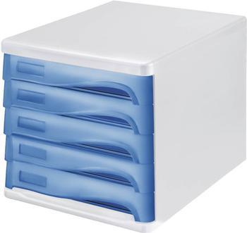 Helit Box 5 Schubladen blau (H61299-84)