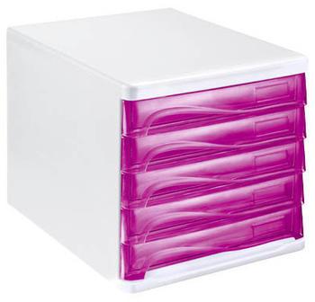 Helit Box 5 Schubladen transparent (H61299-26)