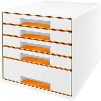Leitz Box Wow Cube (5 Schübe) weiß/orange