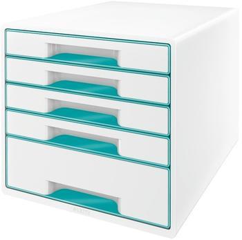 Leitz Box Wow Cube (5 Schübe) weiß/eisblau