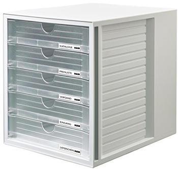 HAN SYSTEMBOX lichtgrau/transluzent-klar (1450-63)