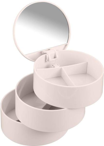 Wenko Kosmetik Tower 3 Fächern und Spiegel rosa (22656100)