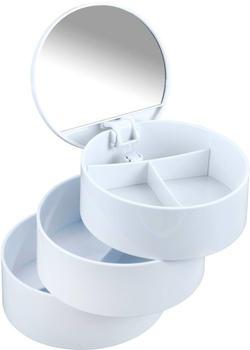 Wenko Kosmetik Tower 3 Fächern und Spiegel weiß (22655100)