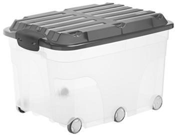 rotho-aufbewahrungsbox-roller-57l-transparent-grau