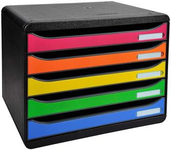Exacompta Big Box Plus quer Classic DIN A4 mit 5 Schubladen bunt