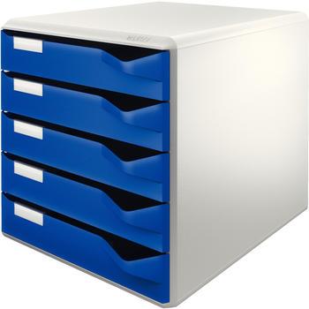 Leitz Schubladenbox Post-Set mit 5 Schubladen DIN A4 blau