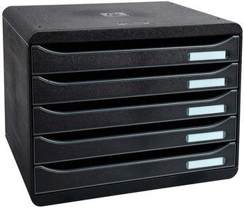 Exacompta Big Box Plus quer Classic DIN A4 mit 5 Schubladen schwarz