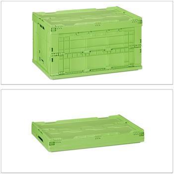 Relaxdays Stapelbox mit Deckel 8x grün