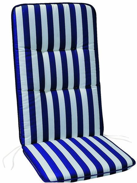 Best Klappsesselauflage Basic-Line 120 x 50 cm (0268) blau/weiß