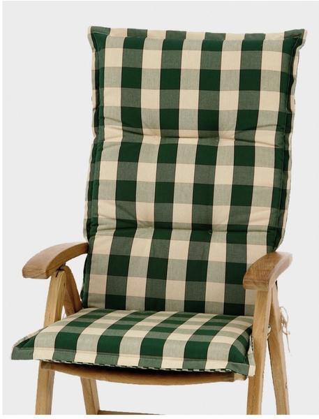 Siena Garden Hochlehnerauflage 120 x 48 cm grün kariert