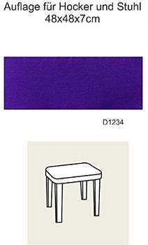 Best Hockerauflage Selection-Line 48 x 48 cm lila (04141234)