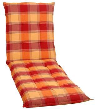 GO-DE Liegenauflage 190 x 60 cm rot kariert