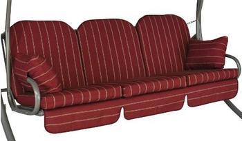 Angerer Deluxe Schaukelauflage für 3-Sitzer 180 x 50 cm Faro rot