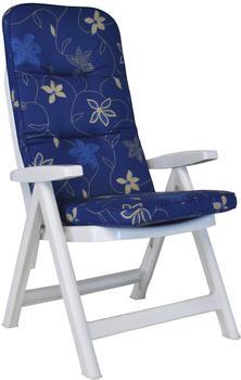 Angerer Exklusiv Sesselpolster hoch Korfu blau