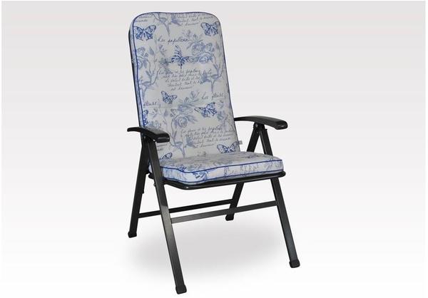 Angerer Exklusiv Sesselpolster hoch Schmetterling blau