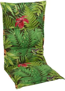 GO-DE Hochlehner-Auflage 120 x 50 cm grün Dschungel