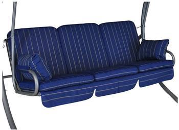 Angerer Comfort Schaukelauflage 3-Sitzer Faro blau