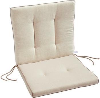 Best Antigua Sitz-und Rückenkissen 90 x 45 cm natur (05311230)