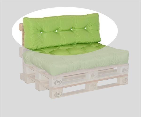 Doppler Rückenkissen für Palettenmöbel 120x40x10/15/20cm Des. Look 836 grün (558438836)