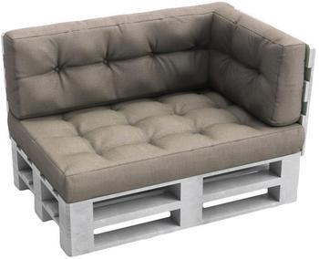 VICCO Set Sitzkissen + Rückenkissen + Seitenkissen Höhe 15cm