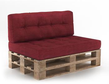 VICCO Set Sitzkissen + Rückenkissen Höhe 15cm rot
