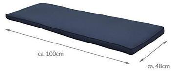 Beautissu Loft Bk 100x48x5 cm dunkelblau