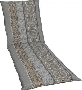 GO-DE Liegenauflage für Rollliegen 190 x 60 cm grau/beige