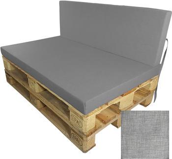 Proheim Tino moderne & wassergeschützte Polsterauflagen (120 x 80 cm) grau